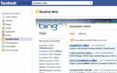Bing diventa sociale: risultati web integrati su Facebook
